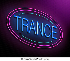 Trance concept - Illustration depicting an illuminated neon...