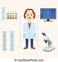 Scientist - vector illustration of scientist scientific...