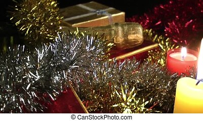 Candles Champagne and Gift Boxes