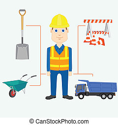 Constructor - vector illustration of constructor with...