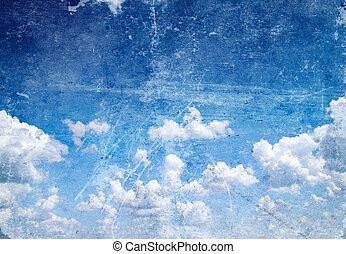 retro sky - retro image of cloudy sky