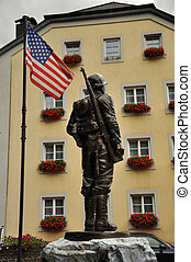 US Soldier - Clervaux, Luxembourg - August 2011 Bronze...