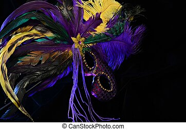 Mardi Gras Mask - Bright and colorful Mardi Gras mask