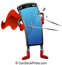 Super Smartphone - An image of a bullet proof super...