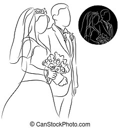 Wedding Couple - An image of a wedding couple.