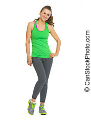 Full length portrait of fitness young woman
