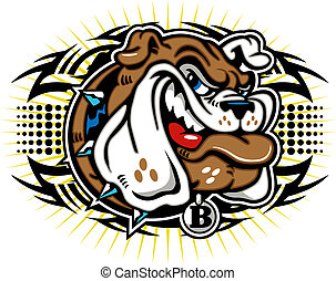 tribal bulldog design