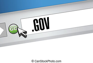 gov domain illustration design over a white background