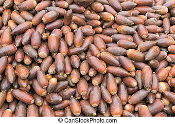 Argan nuts for sale on a market in Morocco
