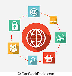 ecommerce design over white background. vector illustration...