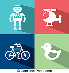toys design over colors background vector illustration