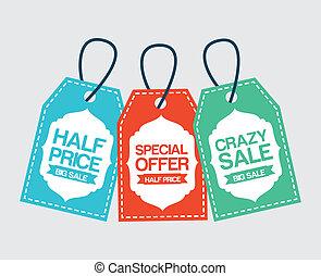 shopping design - shopping design over white background...
