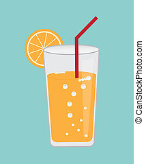 lemonade design over blue background vector illustration