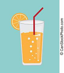 lemonade design over blue background vector illustration