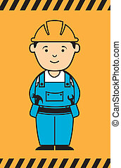 construction design over orange background vector...