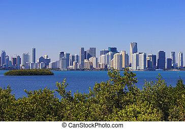 Famous view Miami Florida, USA