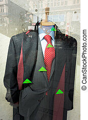 expensive clothes - expensive clothing in a shop window of a...