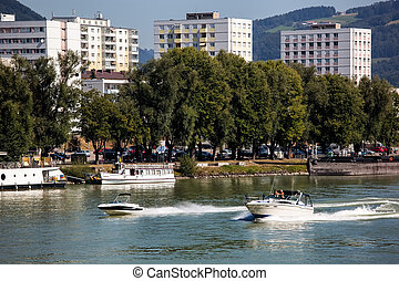 austria, linz - the capital of upper austria in austria is...
