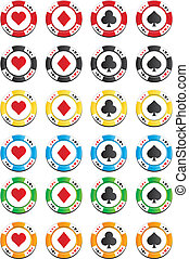 colorful poker chips sets - suitable for poker chips