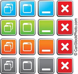 maximize, minimize square buttons - suitable for user...