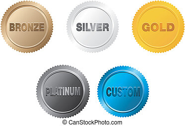 set of medal badge - suitable for user interface
