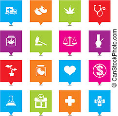 medical marijuana square pointers - suitable for user...