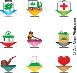 medical cannabis pointer - suitable for user interface