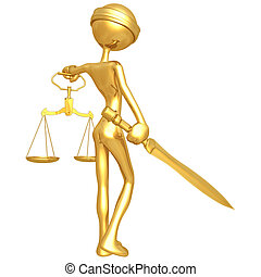 Lady Justice - 3D Concept And Presentation Figure