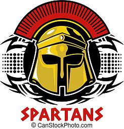 tribal spartan helmet