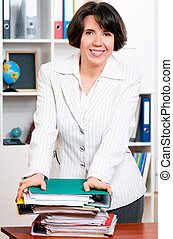Business woman - Portrait of successful business woman or...