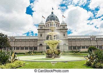 Royal Exhibition Building near Carlton Gardens in Melbourne,...