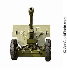 Green Field Artillery gun - Front view of Green Field...