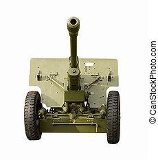 Green Field Artillery gun - Front view of Green Field...