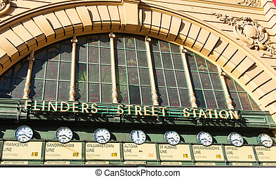 Flinders Street Station is a famous building from 1909 in...