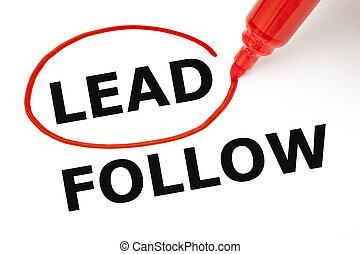 Lead or Follow Red Marker - Choosing Lead instead of Follow....