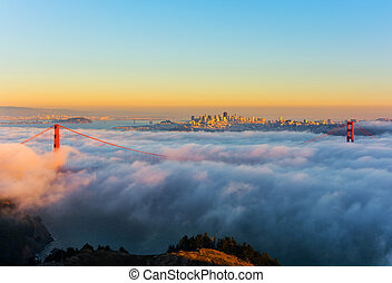 San Francisco - Foggy day in San Francisco California at...