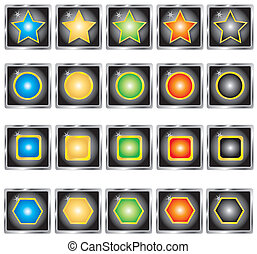Collection of buttons. Vector