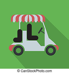 golf design over  green background vector illustration