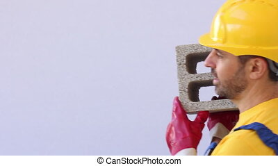 construction worker with break