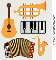 musical design over white background vector illustration
