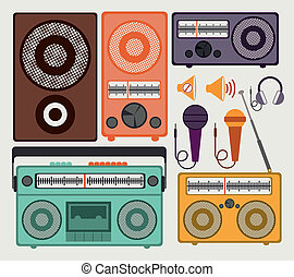 musical design over white  background vector illustration