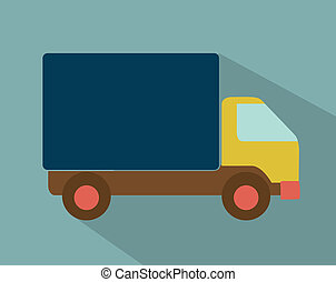 delivery design - delivery design over blue background...