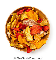 Vegetable Chips - Fresh Cut Organic Vegetable Chips with sea...