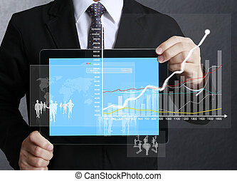 touch screen graph on tablet