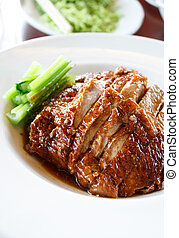 Roasted duck ,chinese cuisine - Roasted duck on plate...