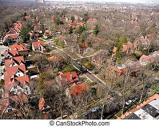 Queens 1 - An aerial view of Forest Hills Queens NY