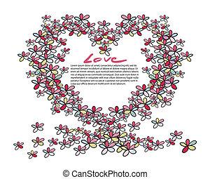 flower heart shape
