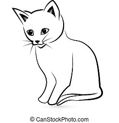 Cat silhouette logo - Cat silhouette icon vector