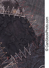 textile fabric  - cut manually woven textile fabric