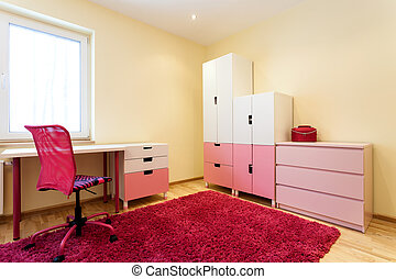 Cute pink children room - Cute little children room with...